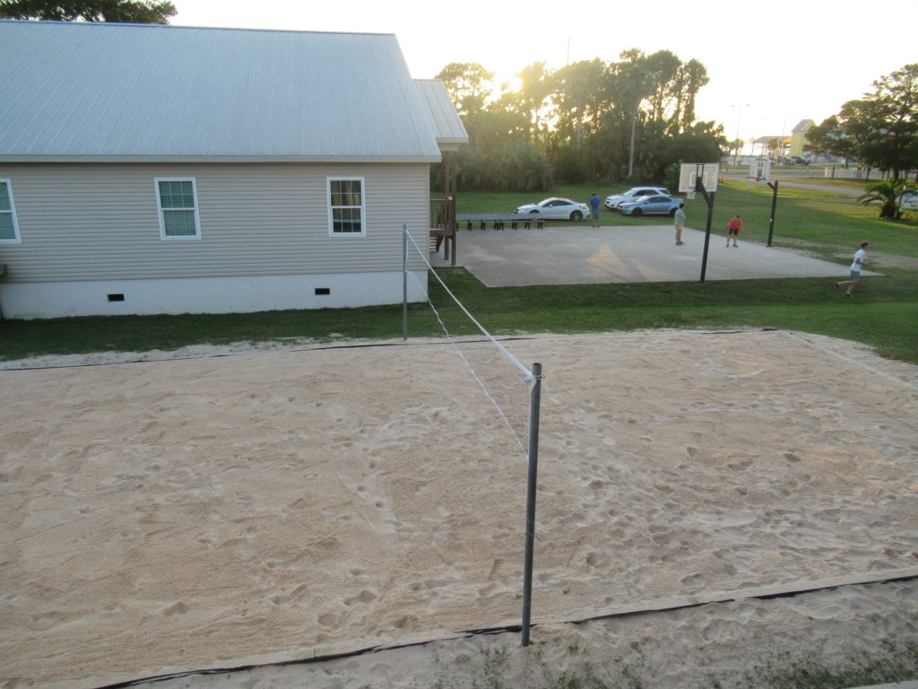 South View of Olympic Volleyball Court and Basketball Court